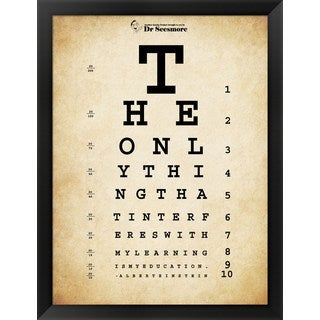 Shop Einstein Eye Chart Framed Art Free Shipping Today