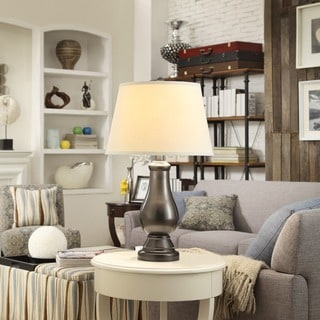 INSPIRE Q Schubert 3-Way Bronze Contoured Base 1-Light Accent Table Lamp