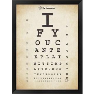 Unknown 'Einstein Eye Chart II' Framed Art