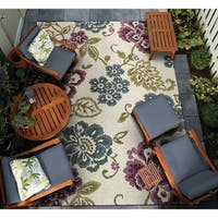 Couristan Dolce Tivoli Ivory-Multi Indoor/Outdoor Area Rug - 4' x 5'10