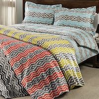 Expressions Strada Ikat 300 Thread Count 3-piece Duvet Cover Set
