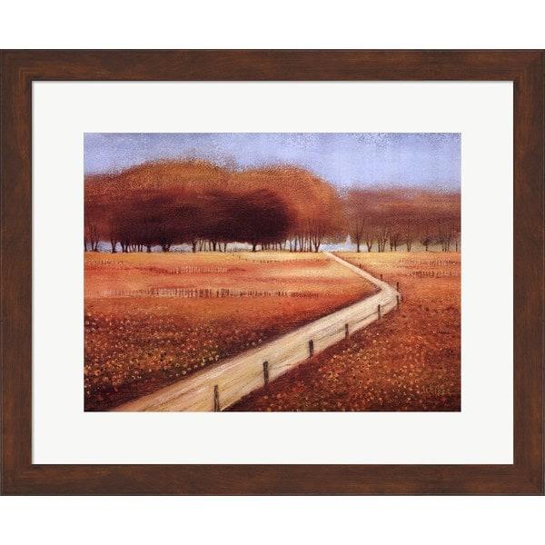 Lynn Welker 'Autumn Memory' Framed Art - Brown/Blue