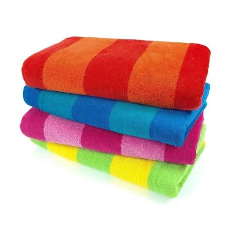 "Kaufman.Cabana Striped Beach Towel 30""x 60"" (Set of 4 )"