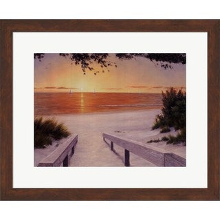 Diane Romanello 'Evening Sunset' Framed Art