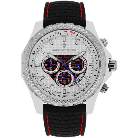 Christian Van Sant Men's Screw-down Sports Retrograde Chronograph Watch