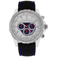 Christian Van Sant Men's Stainless Steel Sports Retrograde Chronograph Watch