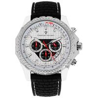 Christian Van Sant Men's Sports Retrograde Chronograph Watch with White Hands