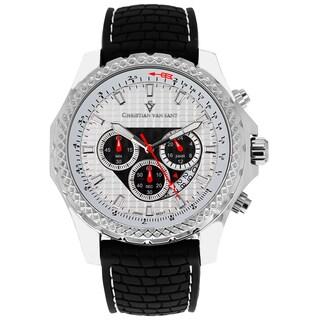 Christian Van Sant Men's Sports Retrograde Chronograph Watch with White Hands