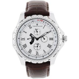 Christian Van Sant Men's White Retrograde Watch
