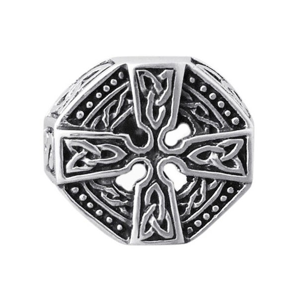 Handmade Faith Eternal Celtic Knot Cross Men's .925 Sterling Silver Ring (Thailand)