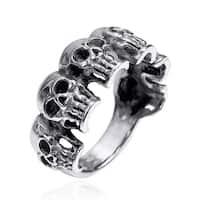 6 Skulls Regal Smile .925 Sterling Silver Band Ring
