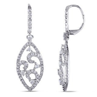 Miadora Signature Collection 14k White Gold 2ct TDW Diamond Drop Earrings (G-H, SI1-SI2)