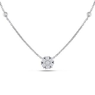 Miadora 14k White Gold 1/3ct TDW Diamond Necklace (G-H, SI1-Si2)