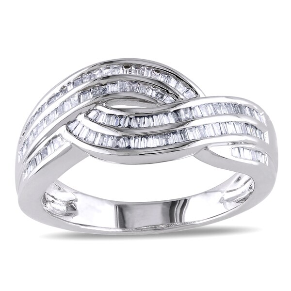 Miadora 14k Gold 1/2ct TDW Braided Multi Row Diamond Ring (G-H, I1-I2)