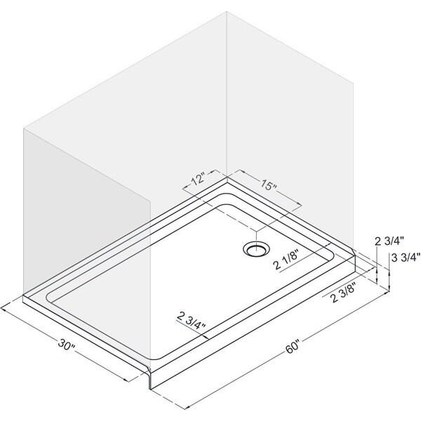 DreamLine Infinity Z Frameless Sliding Shower Door, 30 In. X 60 In. Single  Threshold Shower Base And QWALL 5 Shower Backwall Kit   Free Shipping Today  ...