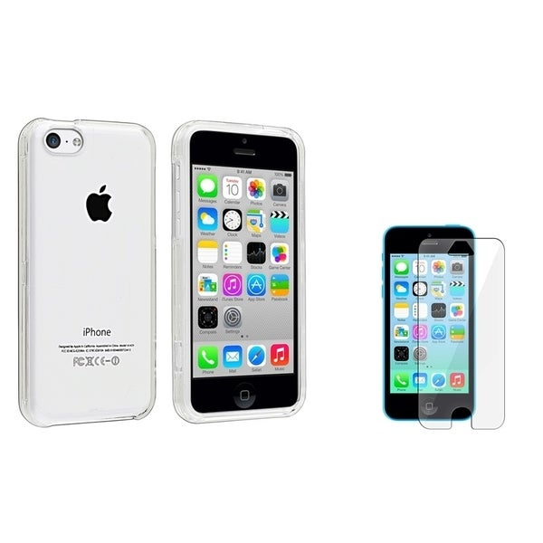 INSTEN Clear Snap-on Phone Case/ Screen Protector for Apple iPhone 5/ 5C/ 5S/ SE