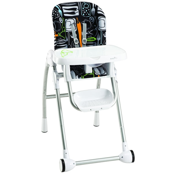 Evenflo Modern High Chair In Crayon Scribbles Free