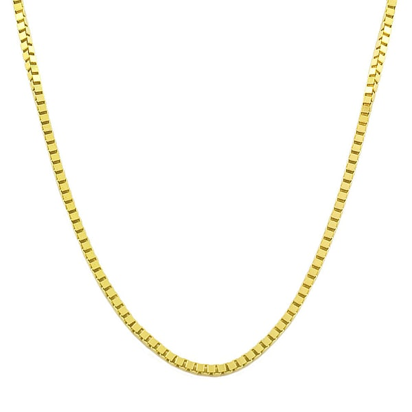 Fremada 14k Yellow or White Gold 1-mm Box Chain