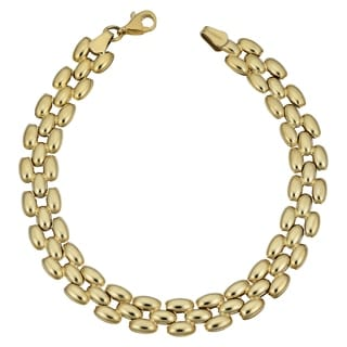 Fremada 10k Yellow Gold Panther Bracelet