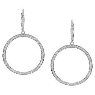 Journee Collection Silver-tone Cubic Zirconia Dangle Earrings