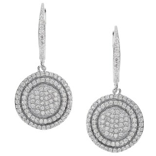 Journee Collection Silver-tone Cubic Zirconia Dangle Earrings
