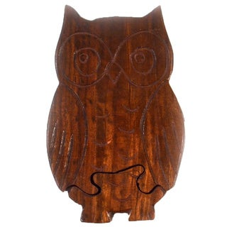 Handmade Owl Puzzle Box (India)