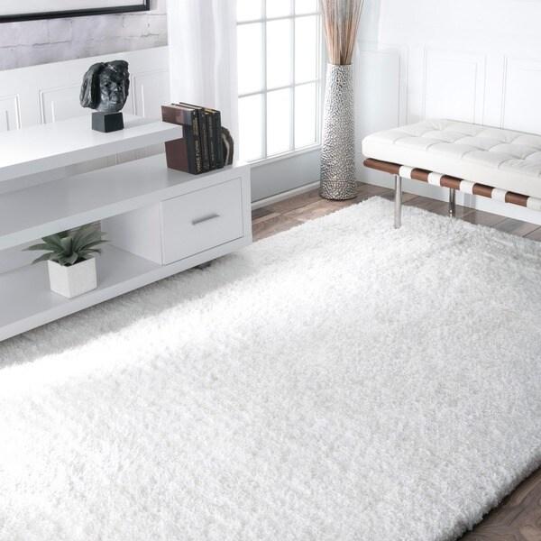 NuLOOM Handmade Soft Plush Shag Rug (5u0027 X 8u0027)