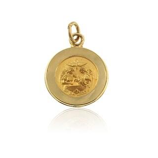 14K Gold Round Baptismal Medal (USA)