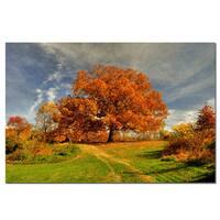 Lois Bryan 'Fall Scene' Canvas Art - Multi