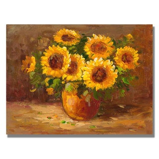 Unknown 'Sunflowers Still Life' Canvas Art