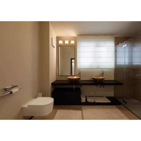 Clean 3-light Satin Nickel LED Bath Fixture