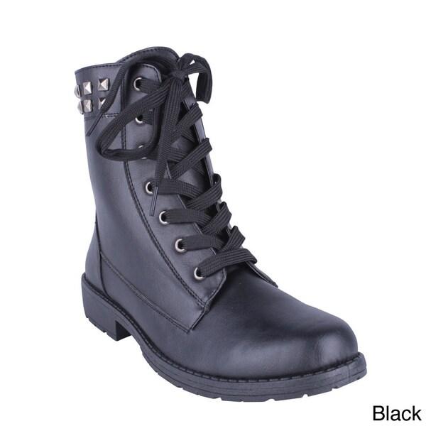Women's 'Aurora-12' Lace-up Combat Ankle Boots