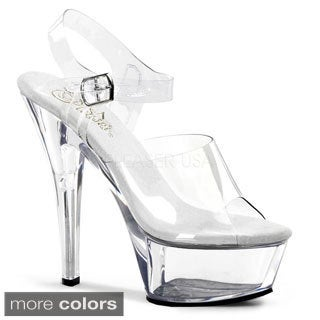 Pleaser Women's 'Kiss-208' 6-inch Spike Heel Platform Sandals
