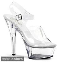 Pleaser Women's 'Kiss-208' 6-inch Spike Heel Platform Sandals