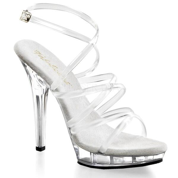 Pleaser Women's 'Lip-106' Criss-cross Straps Sandal Pumps