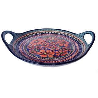 Stoneware Handled Platter (Poland)