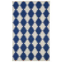 Flatweave TriBeCa Blue Wordly Wool Rug