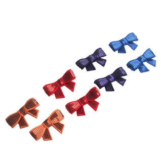 Sequin Hair Bow Set (Set of 2) (Option: Orange)