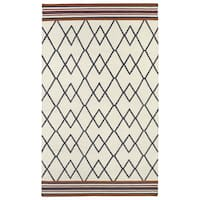 Flatweave TriBeCa Ziggy Grey Wool Rug - 8' x 10'