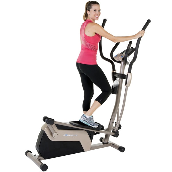 EXERPEUTIC 5000 Magnetic Elliptical with Double Transmission Drive - champagne