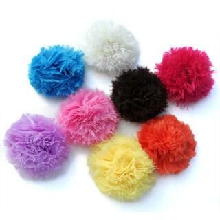 Soft Puff Flower Clip