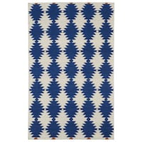 Flatweave TriBeCa Blue Wordly Wool Rug - 8' x 10'