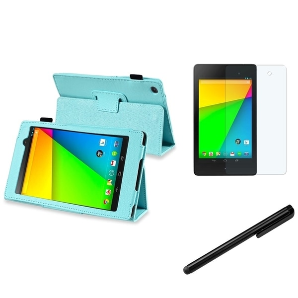 INSTEN Phone Case Cover/ Stylus/ Anti-glare LCD Protector for Google New Nexus 7