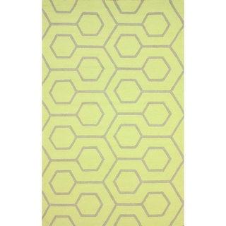 nuLOOM Handmade Modern Indoor/ Outdoor Trellis Lime Rug (8' x 10')