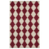 Flatweave TriBeCa Red Wordly Wool Rug - 9' x 12'