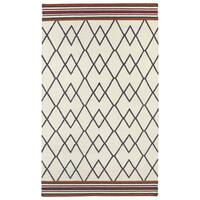 Flatweave TriBeCa Ziggy Grey Wool Rug - 3'6 x 5'6