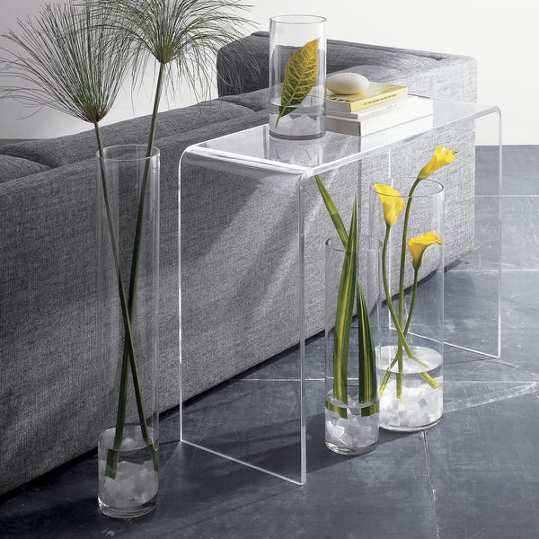 Clear acrylic console table free shipping today for Overstock acrylic coffee table