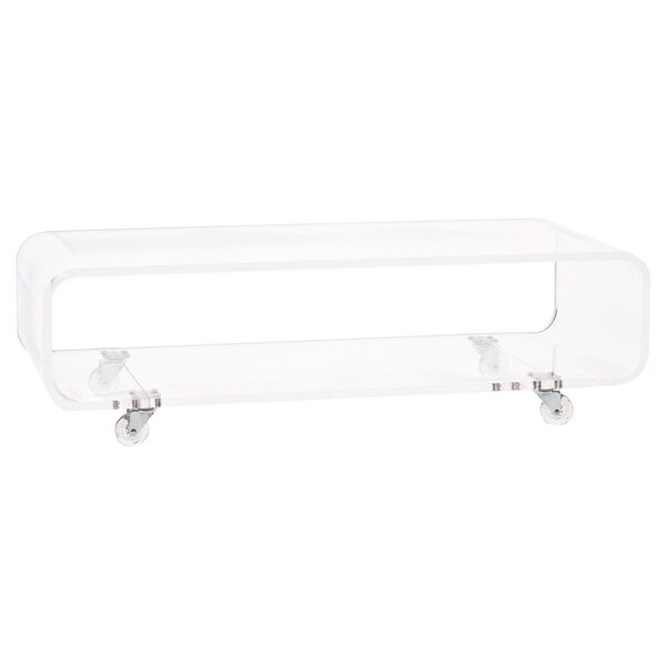Https Www Overstock Com Home Garden Clear Acrylic Rolling Coffee Media Console Table 8475960 Product Html