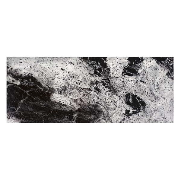 Emley 'Storm Black & White' Abstract Metal Art