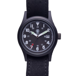 Smith & Wesson Men's 'SWW-1464-BLK' Military Multi Canvas Straps Watch